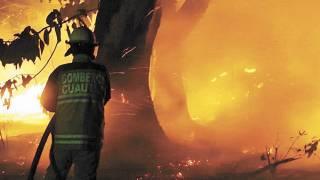 Arde un pastizal atrás de una clínica del IMSS en Yecapixtla 2