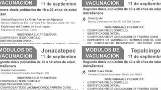 Vacunación de 18 a 29 años en Xochitepec y de 40 a 49 años en 3 municipios más 2