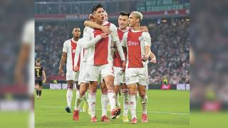 Edson Álvarez hace gol con Ajax 2