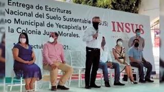 Entrega INSUS escrituras a vecinos de la Juan Morales de Yecapixtla 2