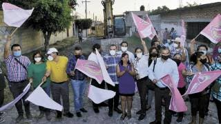 Inician trabajos en calle de Oaxtepec, Yautepec 2