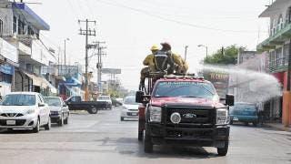 Sanitizan avenida Insurgentes en Cuautla 2