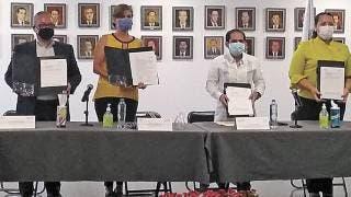 Firman convenio TSJ Morelos e Impepac para ley '3 de 3' 2