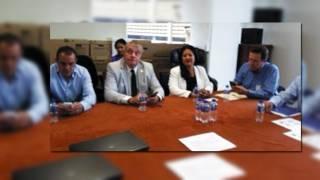 Enterados. Varios funcionarios municipales acompañaron al alcalde Cuauhtémoc Blanco para conocer los avances que lleva la Auditoría Superior de la Federación
