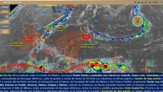 Fuertes lluvias continuarán en México 2