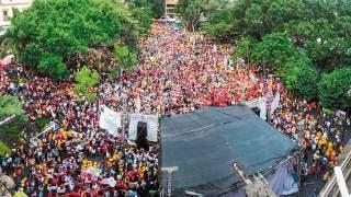 Apoyan miles a Gayosso en cierre de campaña