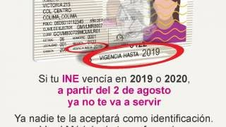 Credenciales de elector 2019 y 2020 perdieron vigencia a partir del 2 de agosto 2