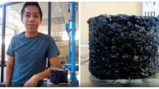 Joven mexicano crea material anti baches reutilizando l...