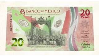 Lanzan billete de 20 pesos conmemorativo, por la Indepe...