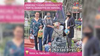Tapitas dan vida; las acopia DIF Cuernavaca 2