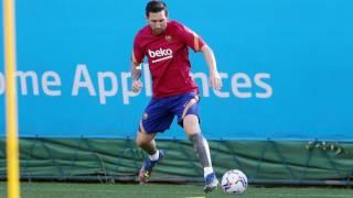 Así regresó Messi a entrenar  2
