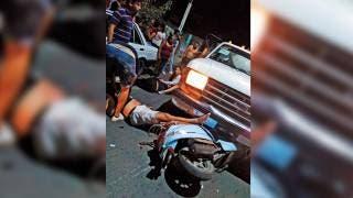 Motociclistas en Morelos chocan aparentemente ebrios 2