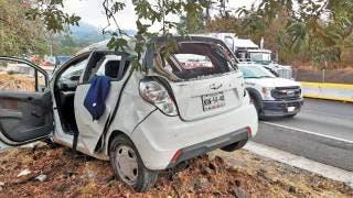 Accidente en la autopista México-Cuernavaca deja un muerto y tres lesionados 2