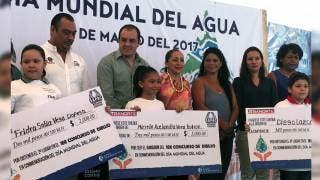Evento. El alcalde Cuauhtémoc Blanco encabezó la ceremonia por el Día del Agua.