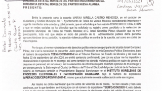 Piden negar registro para reelegirse por violento a alcalde de Tetela del Volcán 2
