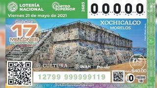 Va Xochicalco al billete de la Lotería Nacional 2