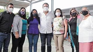 Entrega alcalde de Cuernavaca techumbre en jardín de niños 2