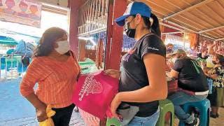 Reparten bolsas ecológicas en Yecapíxtla 2