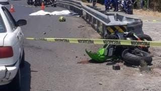 Trágico domingo en Morelos: mueren 2 motociclistas en la México-Cuernavaca 2