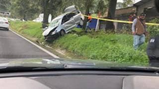 Muere hombre tras accidentarse en la carretera federal México-Cuernavaca 2