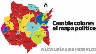 Cambia colores el mapa político del estado