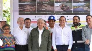 Supervisan AMLO y Cuauhtémoc Blanco trabajos en La Pera-Cuautla 2