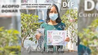 Reconocen DIF Cuernavaca y Banco de Tapitas donaciones de trenzas 2