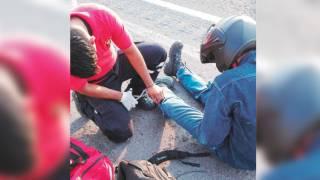 Arrollan a motociclista en la pista México-Acapulco 2