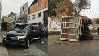 Choca contra camioneta en avenida Atlacomulco, de Cuernavaca 2