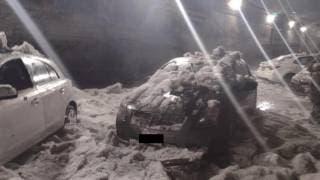 Muere hombre atrapado en su auto tras intensa granizada 2