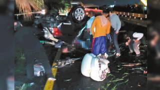 Fallece un joven al volcar su coche en Cuautla 2
