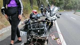 Corre biker en una BMW y se mata en la México-Cuernavaca; su acompañante está grave 2