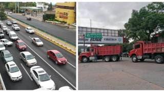 Colapsan camioneros con bloqueos a Cuernavaca; exigen seguridad 2
