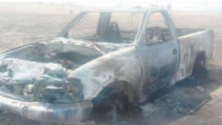 Arde camioneta en Yecapixtla 2