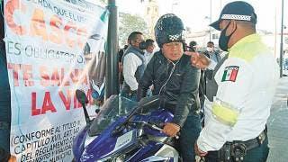 Ante accidentes de moto, Ayala arranca campaña para uso de casco 2