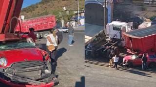 Joven se duerme al volante y choca contra remolque en la Cuernavaca-Tepoztlán 2