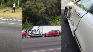 """Chofer """"dopado"""" conducía tráiler que se accidentó en la México-Cuernavaca 2"""