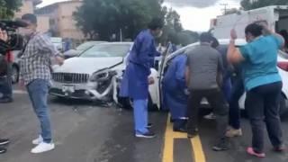 Se desmaya y choca tras vacunarse en la UAEM, de Cuernavaca; hay 4 heridos 2