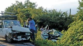 Resulta un joven herido en choque en Coatlán del Río 2