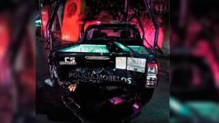 Choca camioneta contra patrulla municipal 2