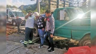 Choca materialista en caseta de Tepoztlán; le fallan los frenos 2