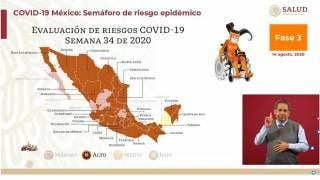 Mayoría de estados, incluyendo Morelos, en semáforo naranja por COVID-19 2
