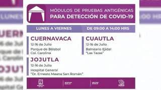 Mantienen módulos de pruebas COVID en Cuernavaca, Cuautla y Jojutla 2