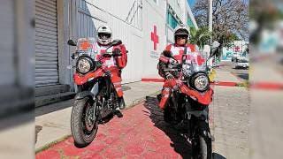 Mejora tiempo de respuesta Cruz Roja con tres paramédicos en moto en Morelos 2