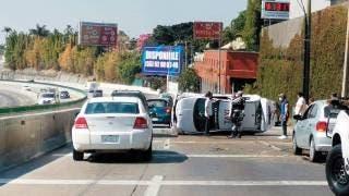 Cuatro autos involucrados en accidente en el Paso Express, Cuernavaca 2