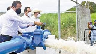 El Gobernador Cuauhtémoc Blanco inauguró dos pozos en Morelos 2