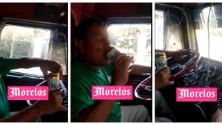 """Captan a trailero """"cheleando"""" mientras maneja en la México-Cuernavaca 2"""