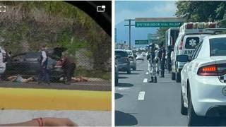Balacera en la Cuernavaca-Acapulco; hay dos hombres detenidos 2