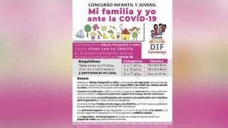Convoca DIF Cuernavaca a concurso 'Mi Familia y yo... ante el COVID-19' 2