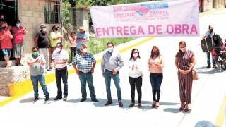 Cumple alcalde de Emiliano Zapata con pavimentación 2